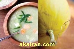 طرز تهیه سوپ خربزه و زنجبیل/آشپزی