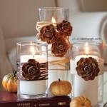 جاشمعی های پاییزی درست کنید/شمع سازی