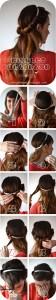 آموزش تصویری بستن مدل مو ساده و شیک دخترانه/بافت مو