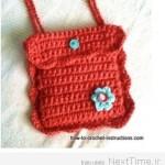 آموزش بافت کیف دخترانه/قلاب بافی