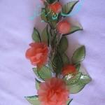 آموزش ساخت یک شاخه گل رز/کریستال بافی