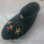 آموزش بافت پاپوش(کفش روفرشی) زنانه و دخترانه/بافتنی