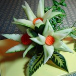 آموزش برش تزئینی خیار/میوه آرایی