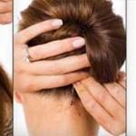 آموزش تصویری مدل شنیون زیبا/بافت مو