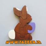 آموزش ساخت پازل خرگوش با چوب/عروسک