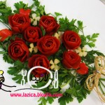 آموزش تزیین گوجه فرنگی به شگل گل/سفره آرایی