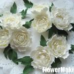 آموزش ساخت گل رز با خمیر چینی/آموزش گل سازی