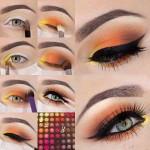 آموزش   گام به گام تصویری  زیباترین مدل های آرایش چشم /آرایش وزیبایی