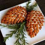 توپ های پنیری و بادام به شکل میوه کاج /هنر های خانه